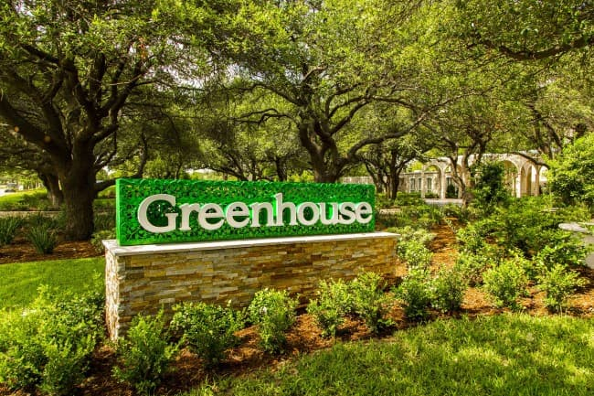 Greenhouse Front Signage