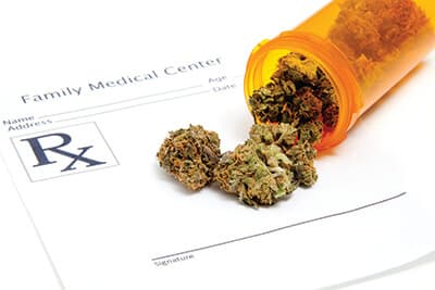 Prescription for medical marijuana from family practice clinic