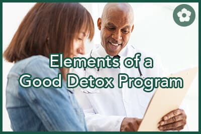 checklist for a good detox program