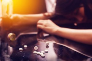 Overdose on pills and alcohol